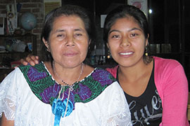 Pascuala Perez Gutierrez, left, and Margarita Vasquez Boloma work with the Fray Pedro de la Nada Committee for Human Rights to educate indigenous women in Chiapas about their rights.