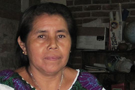 Pascuala Perez Gutierrez helps organize and educate indigenous Chiapas women about their rights in San Cristobal de las Casas in the southern Mexican state.