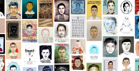 43 Disappeared Ayotzinapa Normal School Students, drawn by Mexican illustrators http://ilustradoresconayotzinapa.tumblr.com/archive