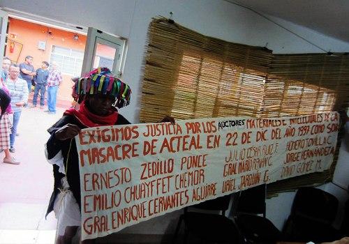 Press conference of Las Abejas of Acteal, San Cristobal de Las Casas, October 22, 2014 © SIPAZ