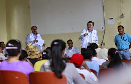 Luis Raúl González Pérez, president of the National Human Rights Commission, met with parents of the 43 missing Ayotzinapa students Photo:  Reuters