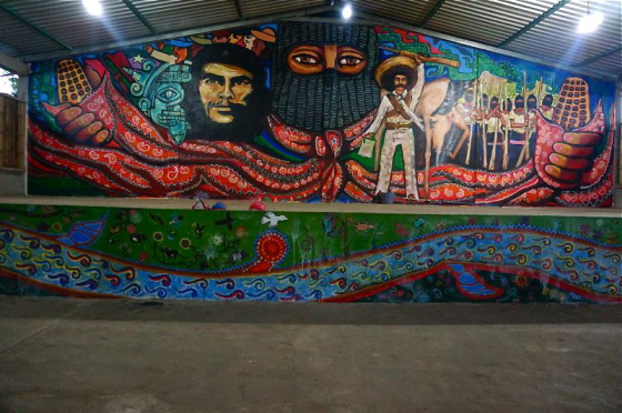 Zibechi the downpour begins with a single drop dorset for Mural zapatista