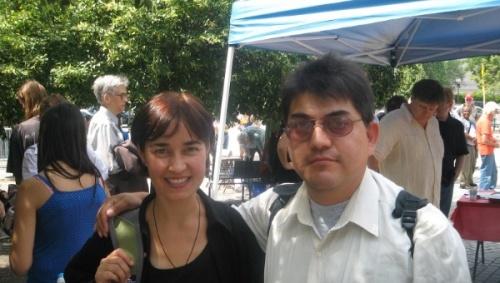 Dianna Ortiz, the American nun tortured in Guatemala, and David Sanchez, a Mexican human rights defender. | Photo: David Sanchez
