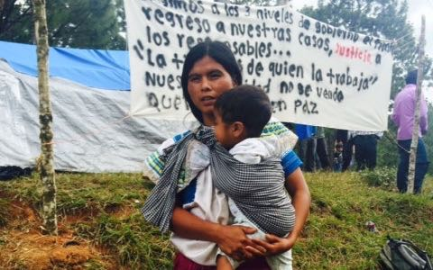 Camps of people displaced from the village Primero de Agosto.Photo: Angeles Mariscal / Chiapas Paralelo