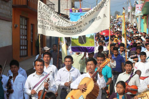 Demonstration against mining activities, Pantelho, February 2015 (@Espoir Chiapas)