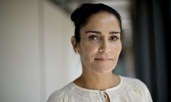 Journalist and human rights campaigner Lydia Cacho. Photograph: Sarah Lee for the Observer