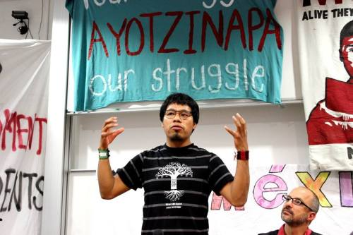 Omar Garcia, an Ayotzinapa student who survived the Iguala police attack on September 26, 2014