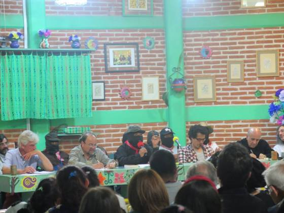 Gustavo (on the right) at the seminar.