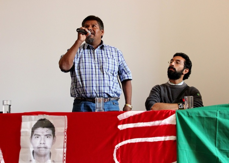 Eleucadio Ortega (left), father of disappeared student Mauricio Ortega Valerio