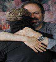 Juan Villoro and SupGaleano at the Homage