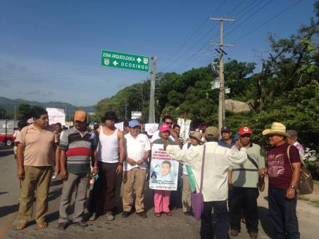 Delegation from Ayotzinapa in Palenque @OmarEl44