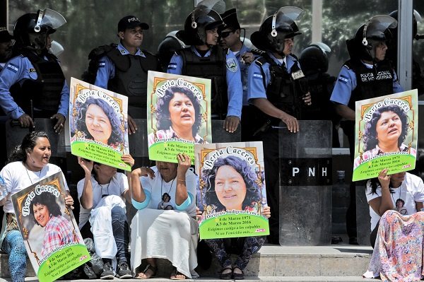 HONDURAS-PROTEST-CACERES